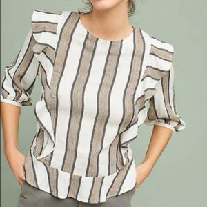 Anthropologie Isabella Sinclair Striped and Ruffle